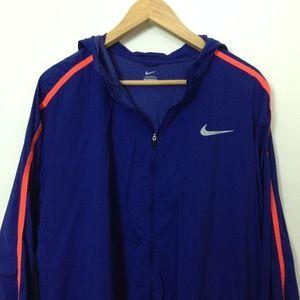 Nike Windbreaker Blue Orange 2XL Athletic Jacket